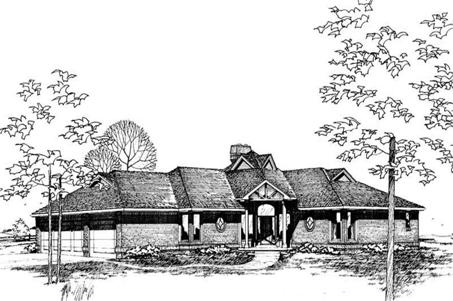 Home Plan Rendering of this 3-Bedroom,2133 Sq Ft Plan -120-1153