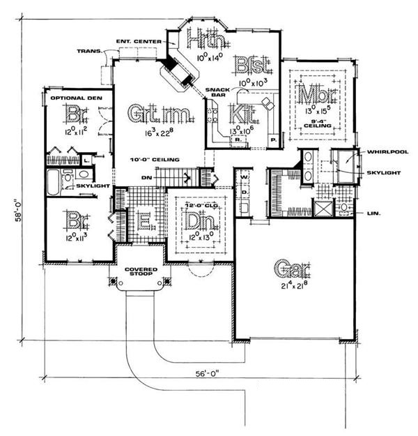 120-1156 house plan first floor