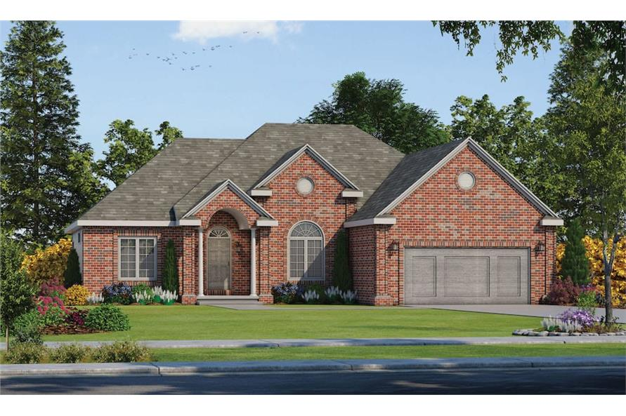 Home Plan Rendering of this 3-Bedroom,1911 Sq Ft Plan -120-1156
