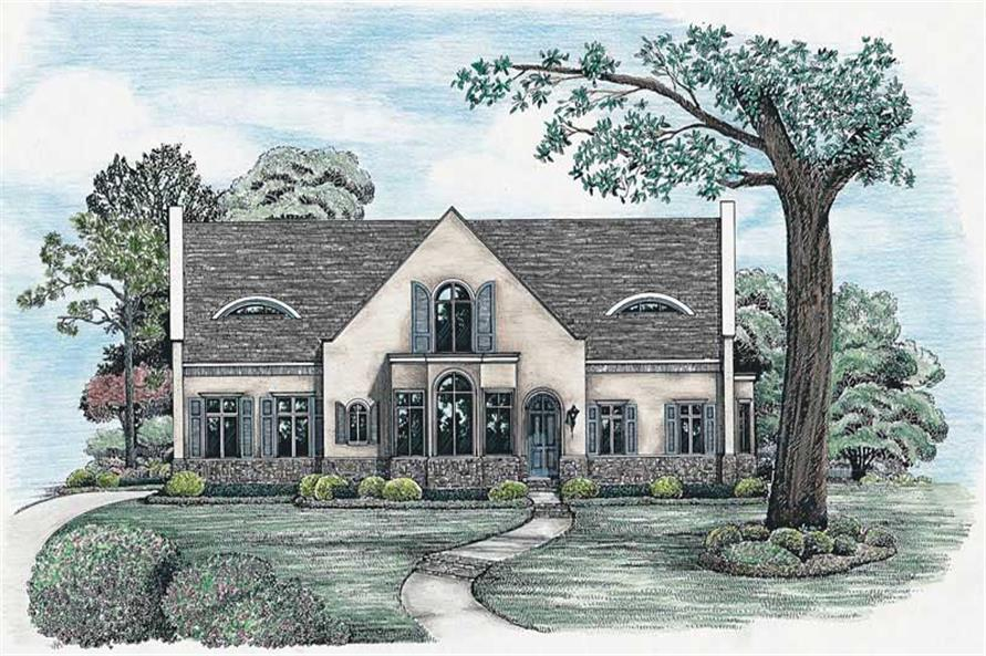 4-Bedroom, 2624 Sq Ft Craftsman House Plan - 120-1163 - Front Exterior