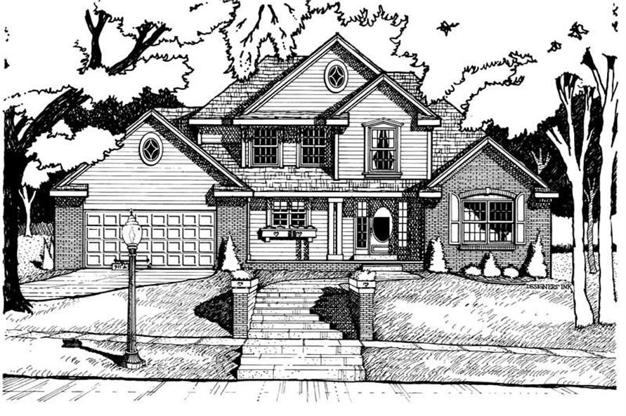 4-Bedroom, 1853 Sq Ft Traditional Home Plan - 120-1164 - Main Exterior