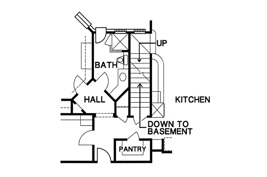 Basement Stairway of this 4-Bedroom,4339 Sq Ft Plan -4339