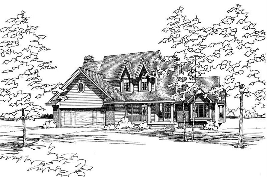4-Bedroom, 2606 Sq Ft Traditional House Plan - 120-1179 - Front Exterior