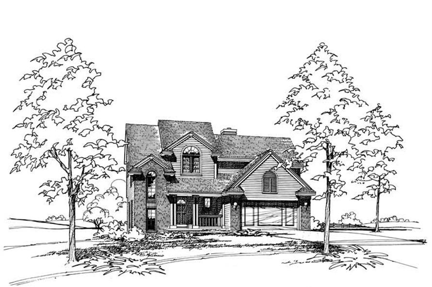 3-Bedroom, 1748 Sq Ft Small House Plans - 120-1189 - Front Exterior