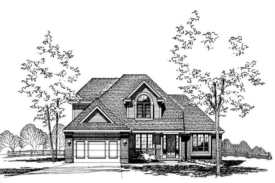 Front Elevation of this 4-Bedroom,1885 Sq Ft Plan -1885