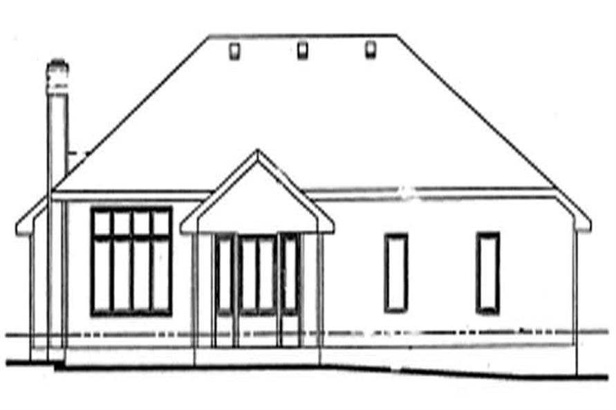 Home Plan Rear Elevation of this 3-Bedroom,1967 Sq Ft Plan -120-1194