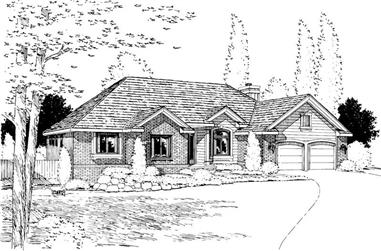 3-Bedroom, 1967 Sq Ft Ranch House Plan - 120-1194 - Front Exterior