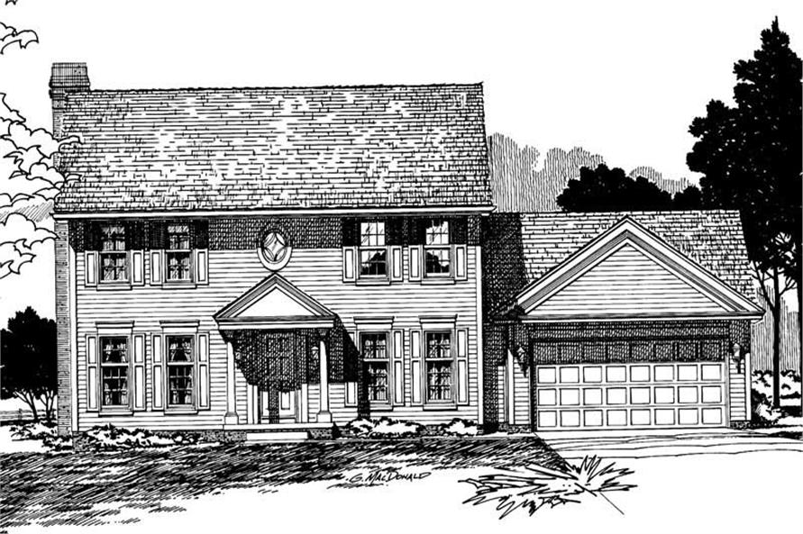 Home Plan Rendering of this 4-Bedroom,1993 Sq Ft Plan -120-1196