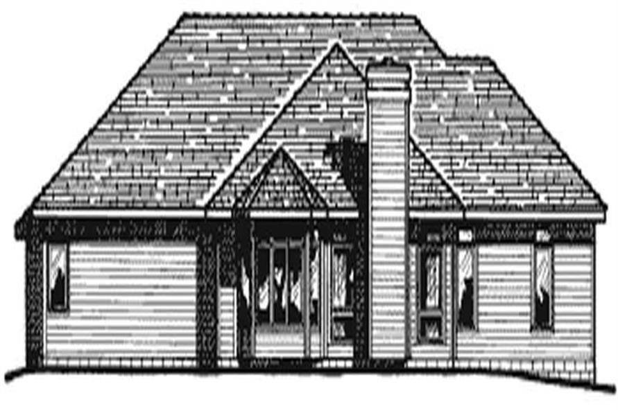 Home Plan Rear Elevation of this 3-Bedroom,2276 Sq Ft Plan -120-1197