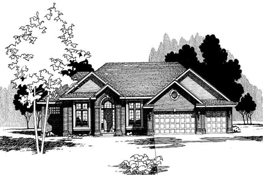 Front Elevation of this 3-Bedroom,2276 Sq Ft Plan -2276