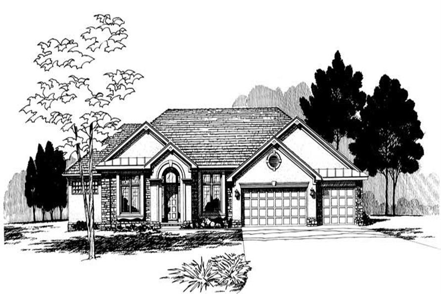 Alternate Front Elevation of this 3-Bedroom,2276 Sq Ft Plan -2276