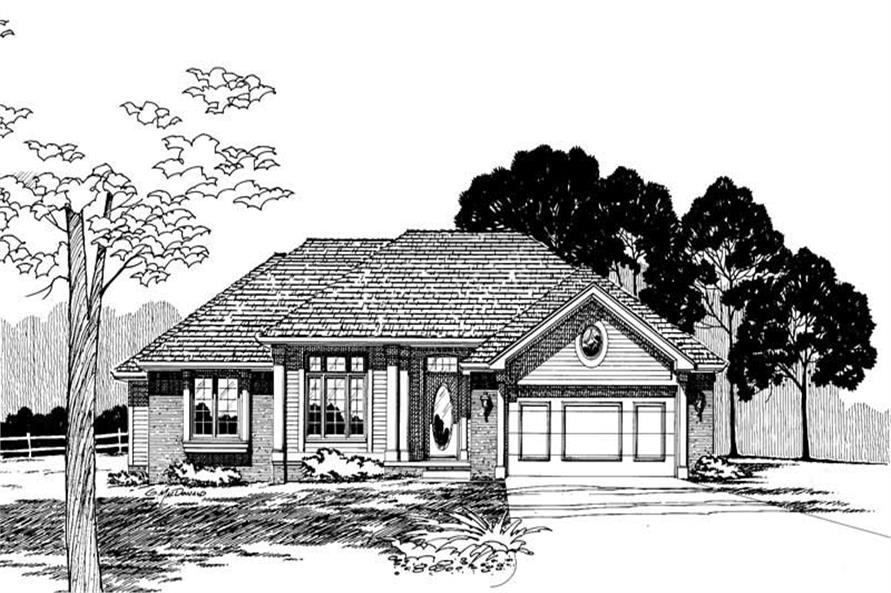Home Plan Rendering of this 3-Bedroom,1583 Sq Ft Plan -120-1199