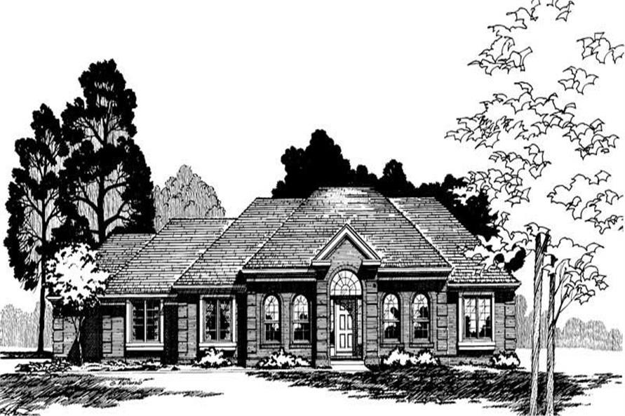 Front Elevation of this 4-Bedroom,2172 Sq Ft Plan -2172