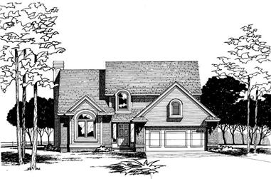 4-Bedroom, 2218 Sq Ft Traditional Home Plan - 120-1201 - Main Exterior