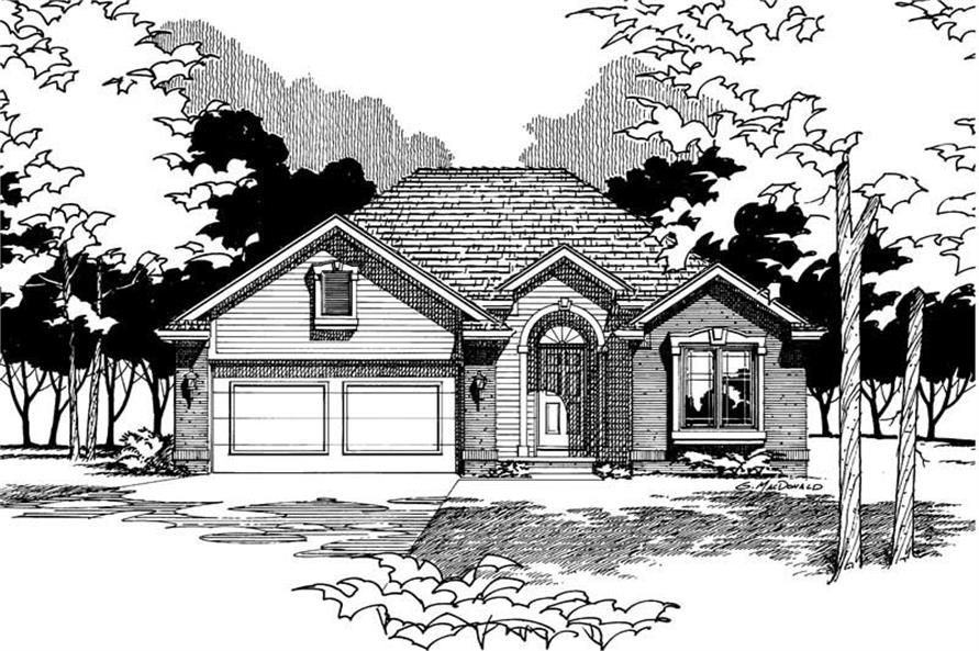 Home Plan Rendering of this 2-Bedroom,1205 Sq Ft Plan -120-1207