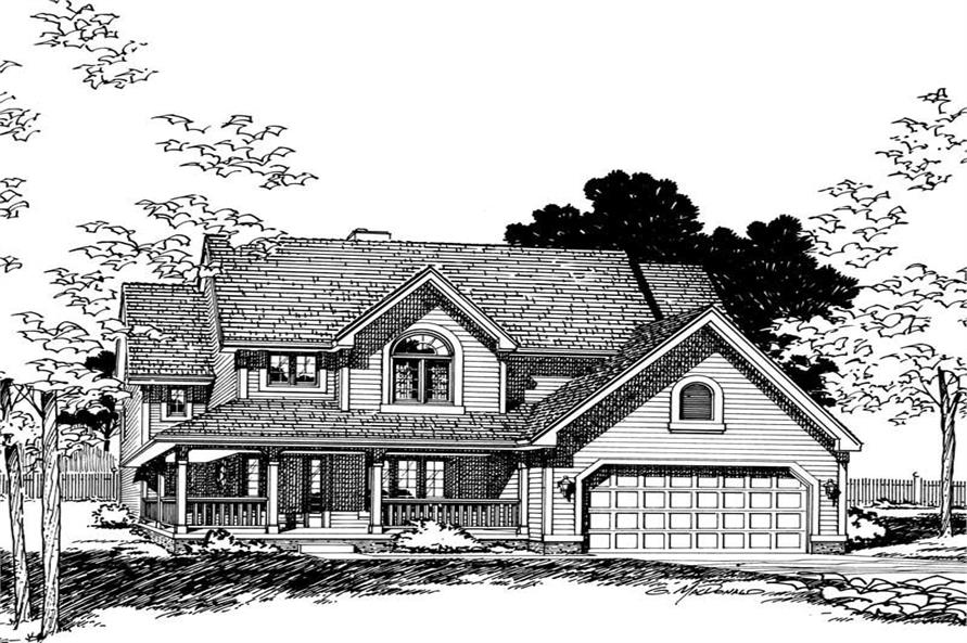 Front Elevation of this 4-Bedroom,2270 Sq Ft Plan -2270