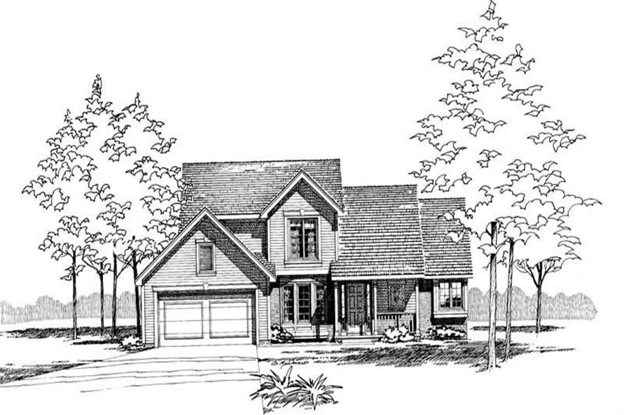 Front Elevation of this 3-Bedroom,1778 Sq Ft Plan -1778