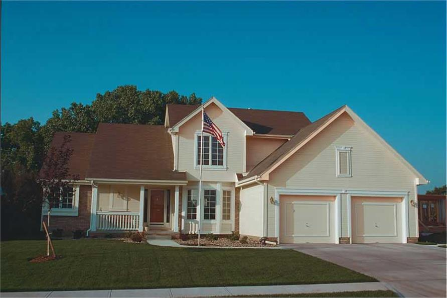 3-Bedroom, 1778 Sq Ft Small House Plans - 120-1212 - Front Exterior