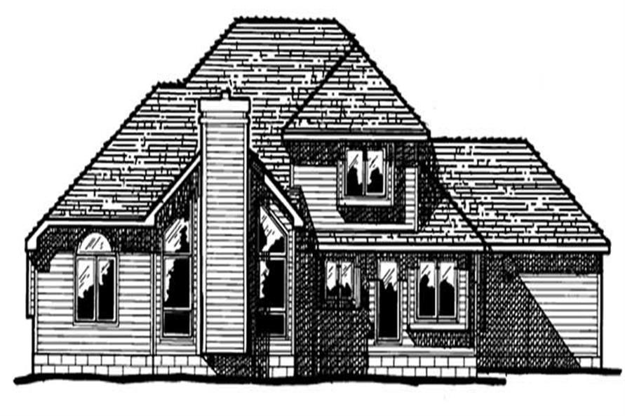 Home Plan Rear Elevation of this 4-Bedroom,2115 Sq Ft Plan -120-1213