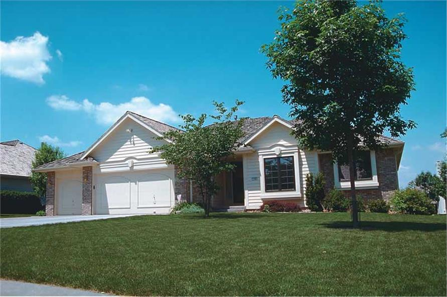 3-Bedroom, 1496 Sq Ft Small House Plans - 120-1214 - Main Exterior