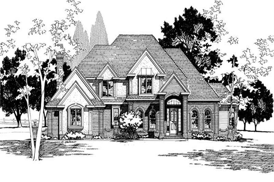 Front Elevation of this 4-Bedroom,3556 Sq Ft Plan -3556