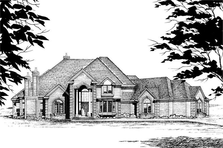 Home Plan Rendering of this 4-Bedroom,3950 Sq Ft Plan -120-1220