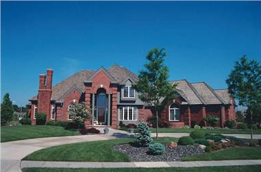 4-Bedroom, 3950 Sq Ft Luxury House Plan - 120-1220 - Front Exterior