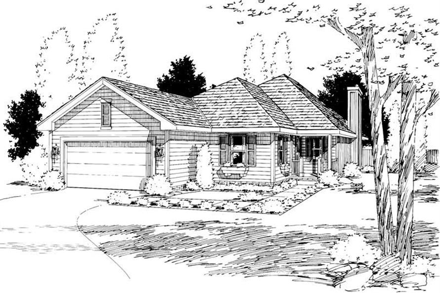 Main image for house plan # 5758