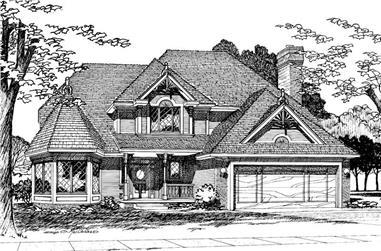 4-Bedroom, 2233 Sq Ft European House Plan - 120-1228 - Front Exterior