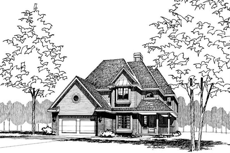 Front Elevation of this 4-Bedroom,2085 Sq Ft Plan -2085