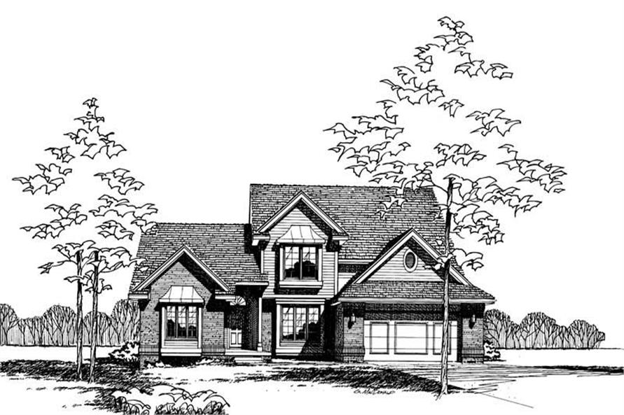 Front Elevation of this 4-Bedroom,2226 Sq Ft Plan -2226