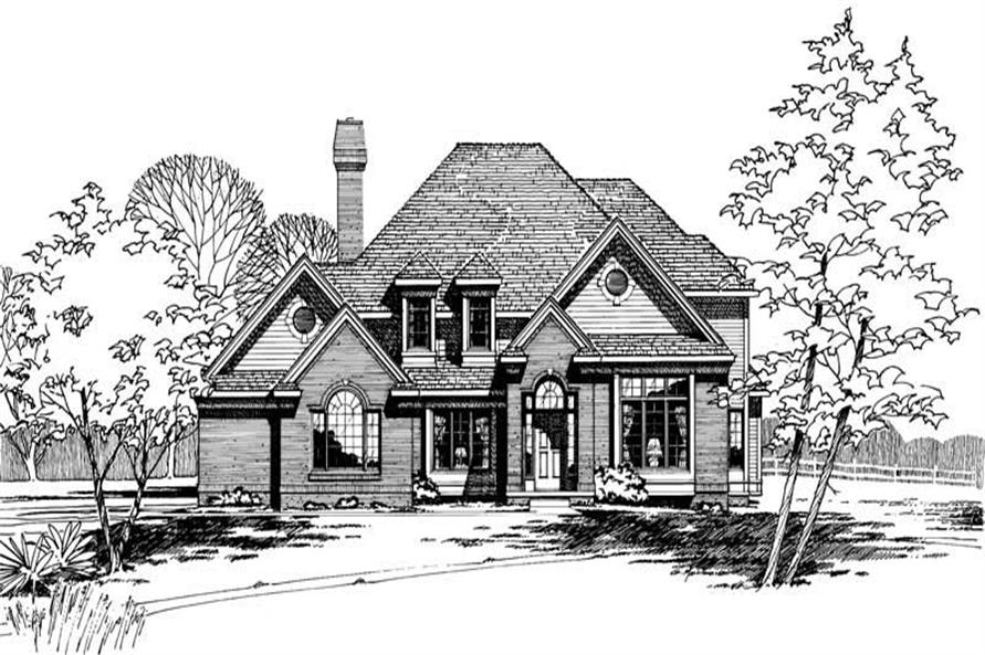 4-Bedroom, 2805 Sq Ft European House Plan - 120-1242 - Front Exterior