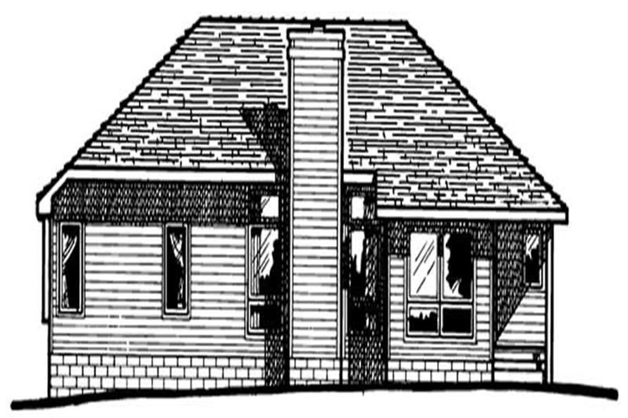 Home Plan Rear Elevation of this 3-Bedroom,1561 Sq Ft Plan -120-1244