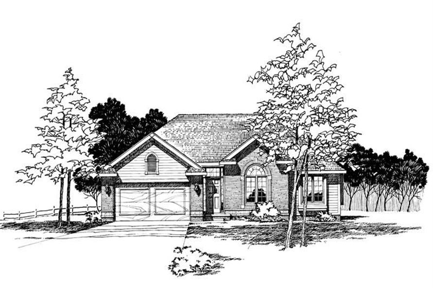 3-Bedroom, 1561 Sq Ft Small House Plans - 120-1244 - Front Exterior