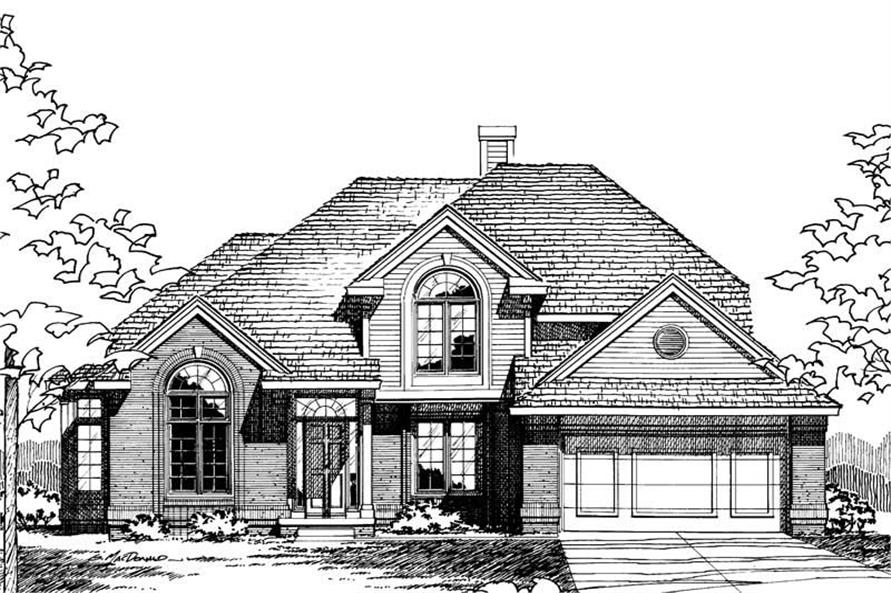 Front Elevation of this 4-Bedroom,2391 Sq Ft Plan -2391