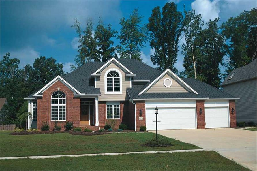 4-Bedroom, 2391 Sq Ft Traditional House Plan - 120-1245 - Front Exterior