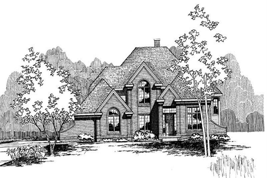 Front Elevation of this 4-Bedroom,2964 Sq Ft Plan -2964