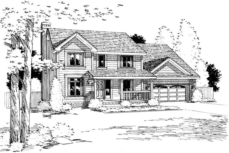 Home Plan Rendering of this 4-Bedroom,1891 Sq Ft Plan -120-1256