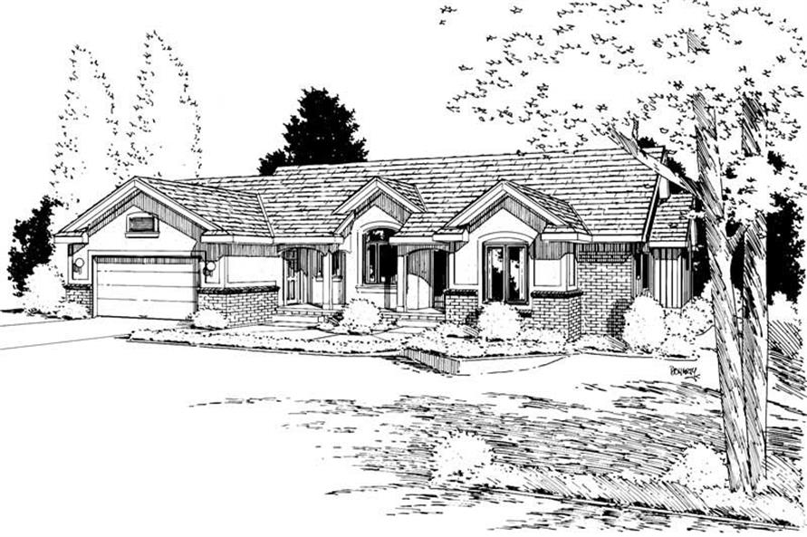 Main image for house plan # 5722