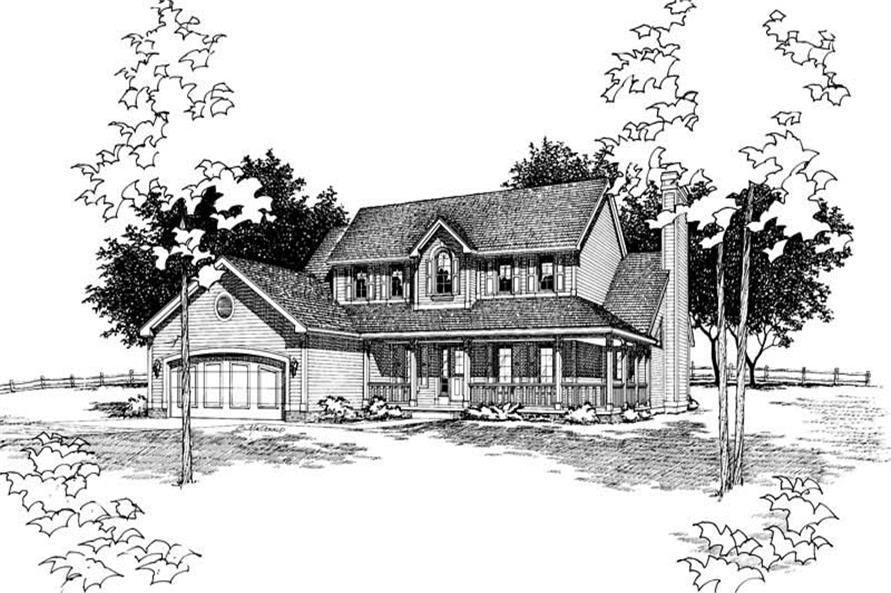 Home Plan Rendering of this 4-Bedroom,2277 Sq Ft Plan -120-1269