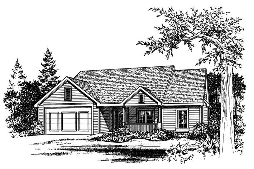 Front Elevation of this 3-Bedroom,1784 Sq Ft Plan -1784