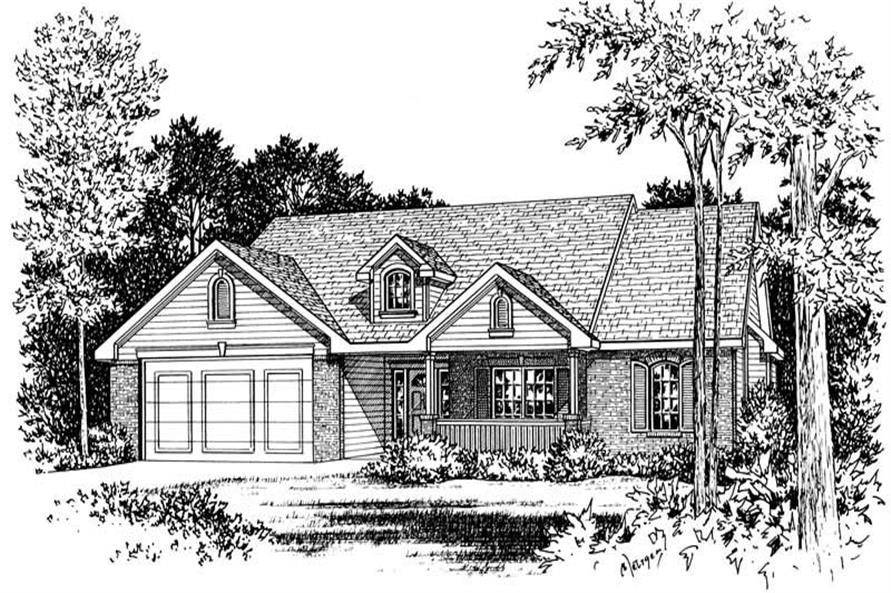 Alternate Front Elevation of this 3-Bedroom,1784 Sq Ft Plan -1784
