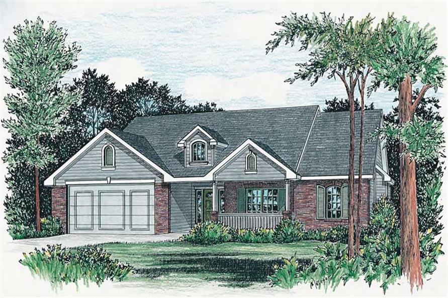 Alternate Color Rendering of this 3-Bedroom,1784 Sq Ft Plan -1784
