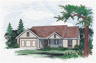 3-Bedroom, 1784 Sq Ft Country House Plan - 120-1272 - Front Exterior