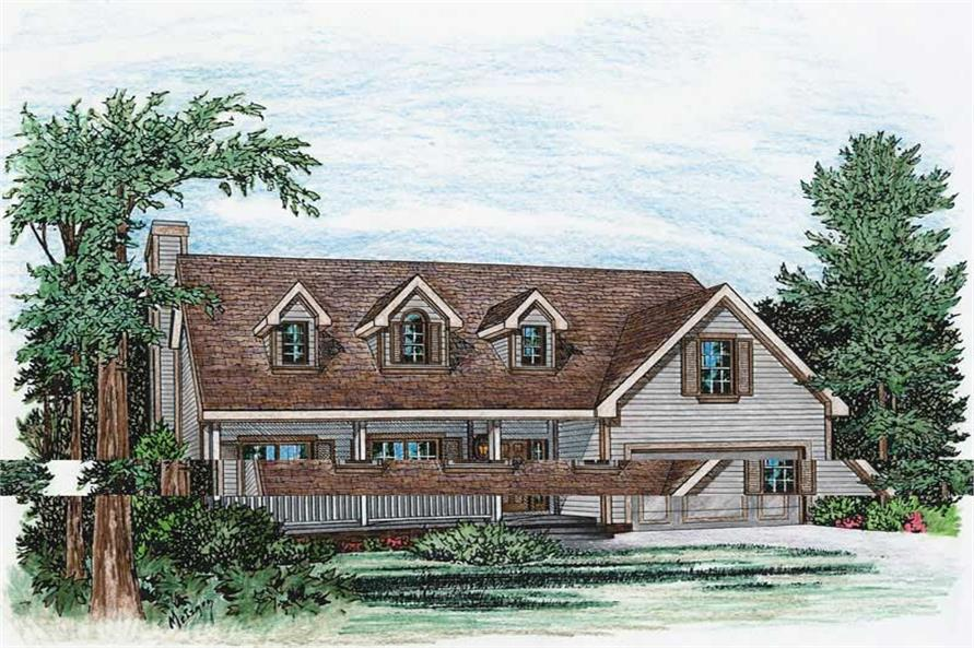 3-Bedroom, 1495 Sq Ft Country House Plan - 120-1273 - Front Exterior