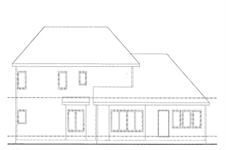 Home Plan Rear Elevation of this 4-Bedroom,2770 Sq Ft Plan -120-1275