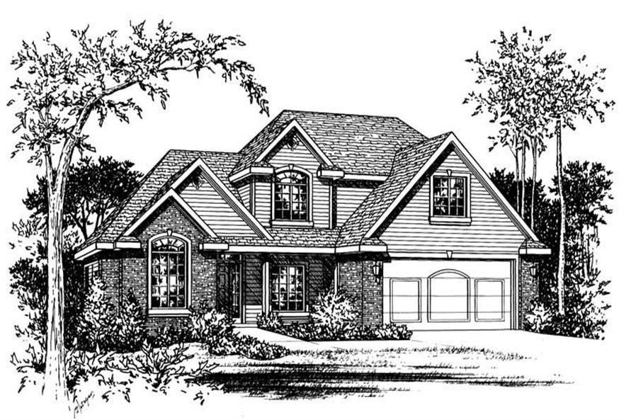Home Plan Rendering of this 4-Bedroom,2770 Sq Ft Plan -120-1275
