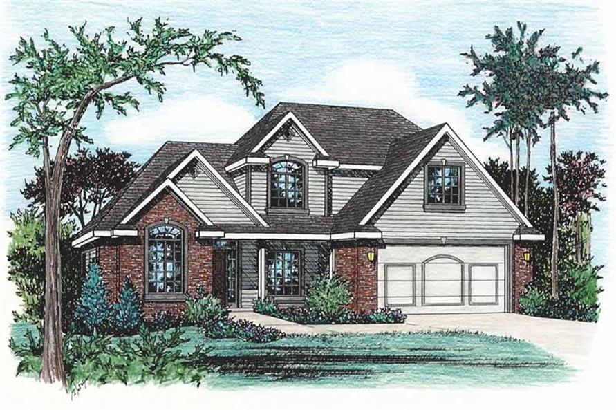 4-Bedroom, 2770 Sq Ft Traditional House Plan - 120-1275 - Front Exterior