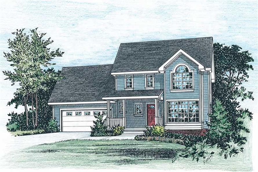 3-Bedroom, 1389 Sq Ft Country House Plan - 120-1276 - Front Exterior