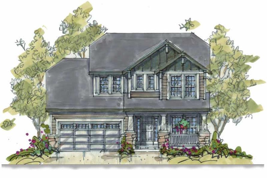 3-Bedroom, 1699 Sq Ft Country Home Plan - 120-1280 - Main Exterior